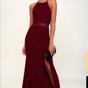 Classy Burgundy Maxi Dress
